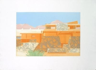Signed Meyers Taliesin West, Arizona Etching