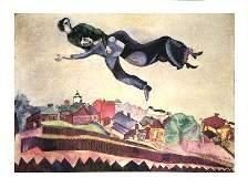 Chagall AuDessus De La Ville Poster