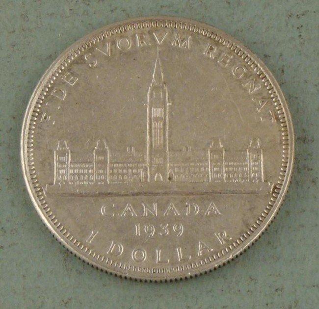 Strong Grade Canadian 1939 Silver Dollar