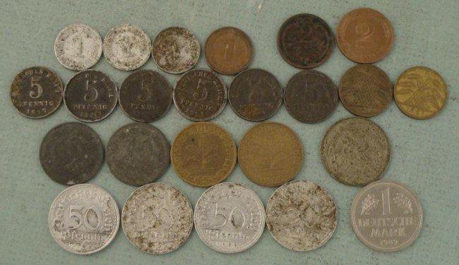 Lot 18 German Coins 1897-1989 Pfennig, Mark