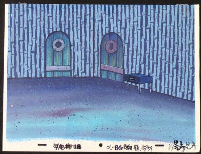 SpongeBob Furniture Original Background Animation Cel