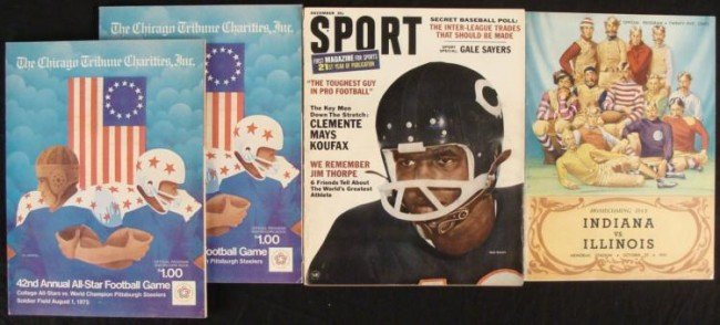 Three Football Programs Sport Magazine Vintage