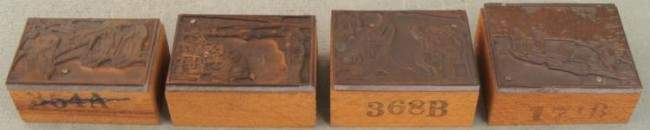 4 Kodak Camera Ad Copper Print Blocks Outdoors 1920s