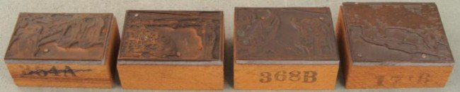 4 Kodak Camera Ad Copper Print Blocks Outdoors 1920s
