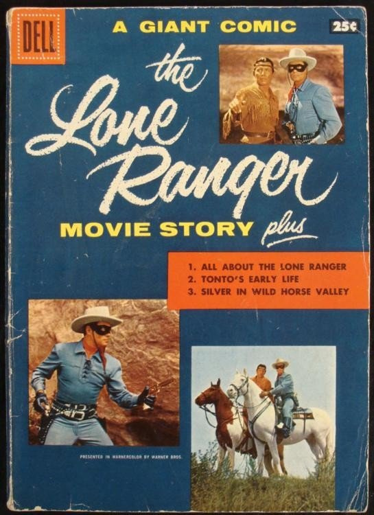 Lone Ranger Movie Story Dell Comic Book Vintage 1956