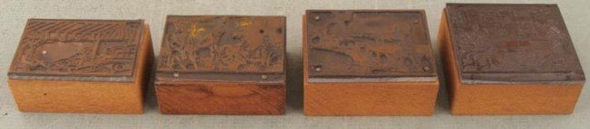 4 Kodak Camera Ad Copper Print Blocks Family 1920s