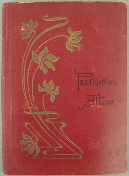 Vintage German Postcard Album w/ Art Nouveau Cover