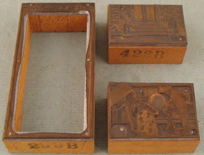 3 Kodak Ad Copper Print Blocks Photographers 1920s