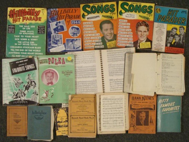 16 Pc Lot Vintage Sheet Music, Hymns, Hit Parader 1920s