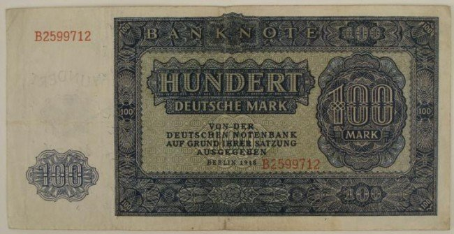 GERMAN 1948 100 DEUTSCHE MARK NOTE