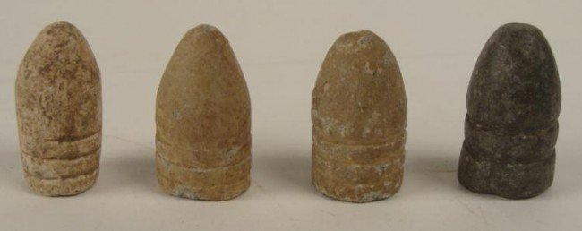 4 ORIGINAL LEAD CIVIL WAR BATTLEFIELD BULLETS