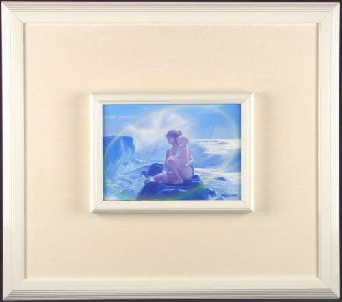 LIFE CURRENTS Tender Original Licsko Oil Painting Frame
