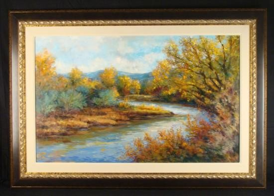 G Wilhelm Large Original Oil Painting Durango Colorado