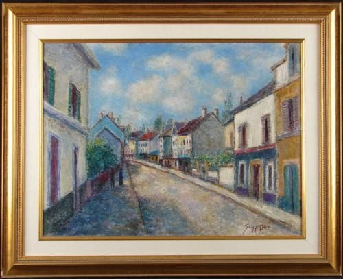 Original Painting NORMANDIE VILLAGE Scoppettone Art