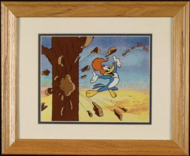Woody Woodpecker Ha Ha Ha Ltd Ed Sericel w/COA Framed