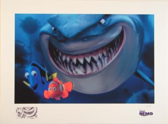 FINDING NEMO Disney Pixar Art Paper Print LE + Remarque