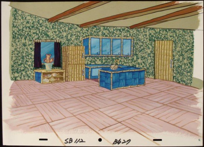 Background Original SpongeBob Kitchen Art Production