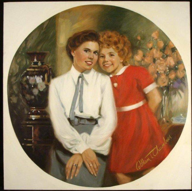 William Chambers Original Art Painting Annie & Grace