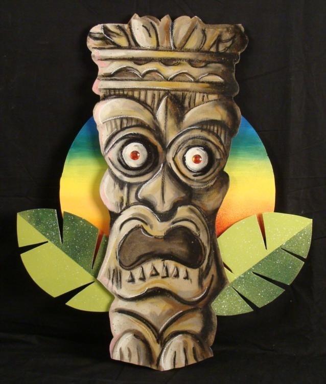 Duerrstein Original Tiki God Hand Painted 3-D Wall Art