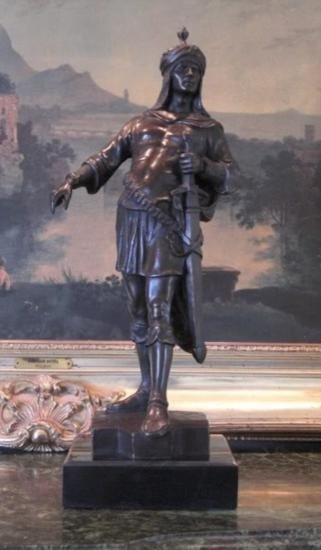 Magnificent Bronze Sculpture Arabian Knight
