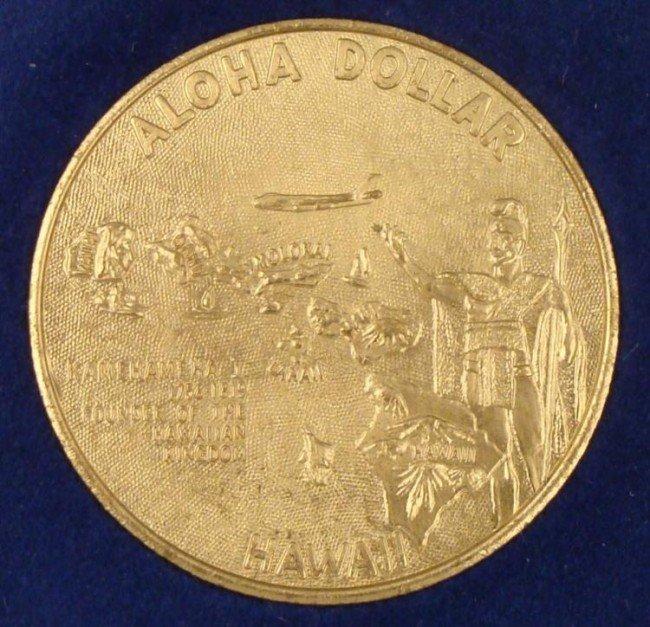 Hawaiian Souvenir Dollar Coin UNC w/ Case