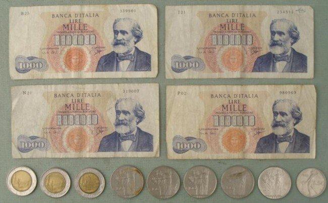 Lot 13 PCs Italian Money 5 100 500 1000 Lira 1960-1990