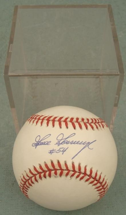 Goose Gossage Signed Baseball HOF w/ Ball Cube