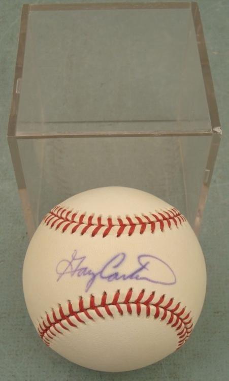 Gary Carter Signed Baseball HOF Catcher w/ COA, Cube