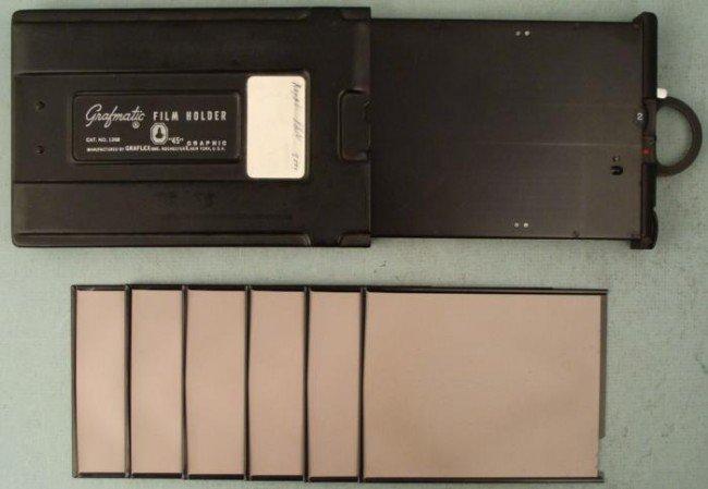 Grafmatic  45  4 x 5 Film Holder No. 1268 Graflex 6 Exp