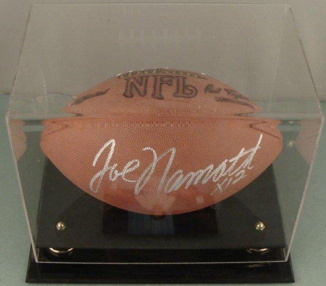 Joe Namath HOF Signed Football w/ Display Case