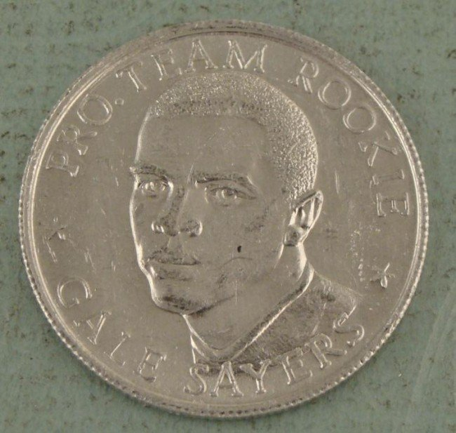 Gayle Sayers Rookie Year 1965 Commem Coin NFL Record
