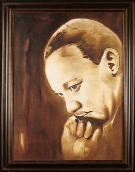 Martin Luther King Original Painting Framed Abram