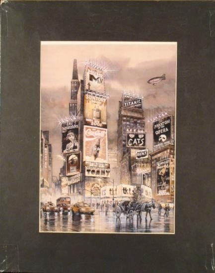 The New Times Square New York 2002 Theater Art Print