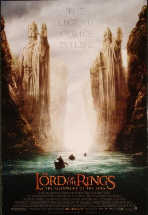 Lord of the Rings Fellowship Movie Promo Poster 2001