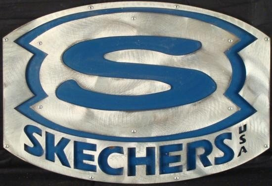 Skechers Shoes Store Advertising Metal Logo Sign
