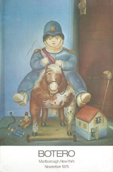 1975 Botero Child on a Horse Poster