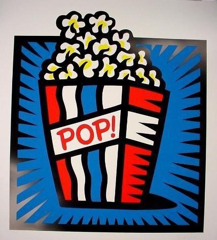 AMERICAN POP BLUE Burton Morris HUGE Pop Art Print S/N