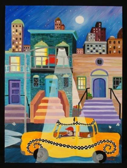 Linnea Pergola Original Painting  Alphabet City  NYC