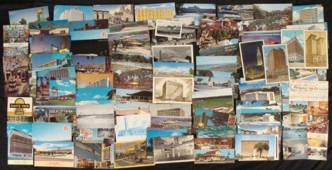 160 Vintage U.S. Hotel & Motel Postcards 1960s-70s