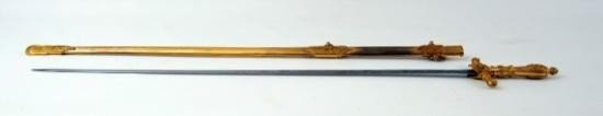 U. S. Medical Officers Staff Sword by J. A. Merrill &