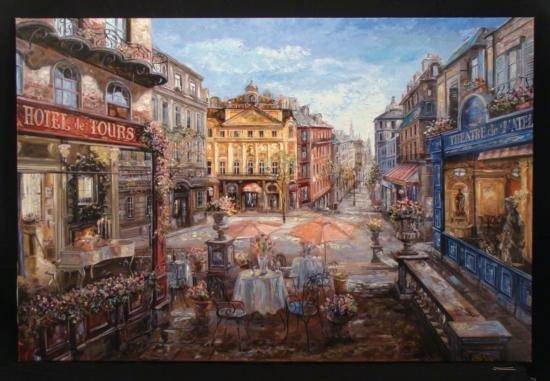 Vadik Suljakov Signed Large Art Hotel des Tours France
