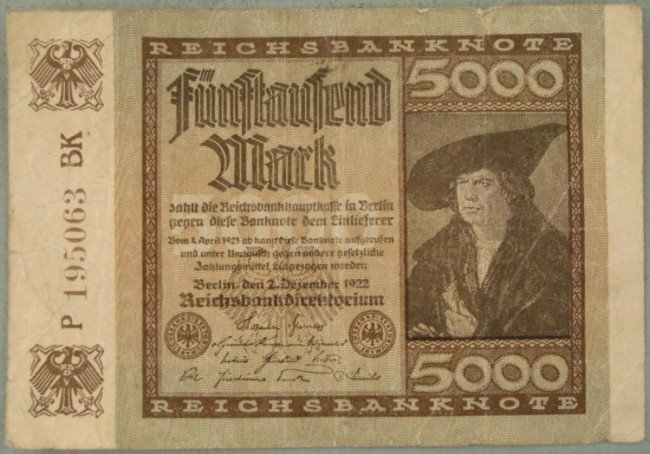 1922 5000 GERMAN MARK