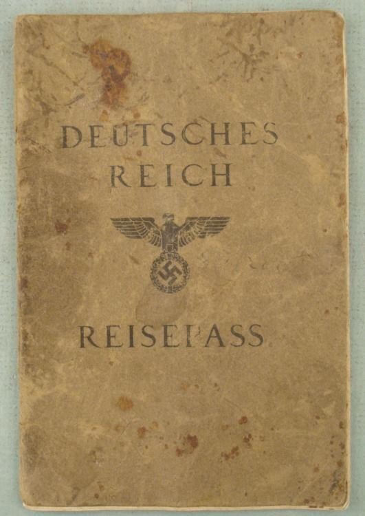 ORIGINAL NAZI PASSPORT/REISEPASS FOR A POLISH FRIEDRICH