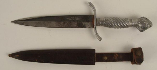 GERMAN DAGGER-SOLINGEN W/SHEATH-VINTAGE-EAGLE CLAW