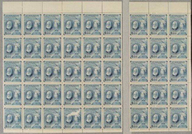 45 Canada Alexander Graham Bell 4 Cent Stamps Sheet
