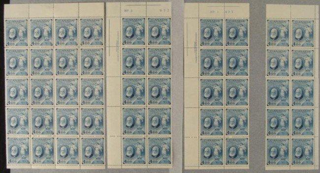 50 Canada Alexander Graham Bell 4 Cent Stamps Sheet