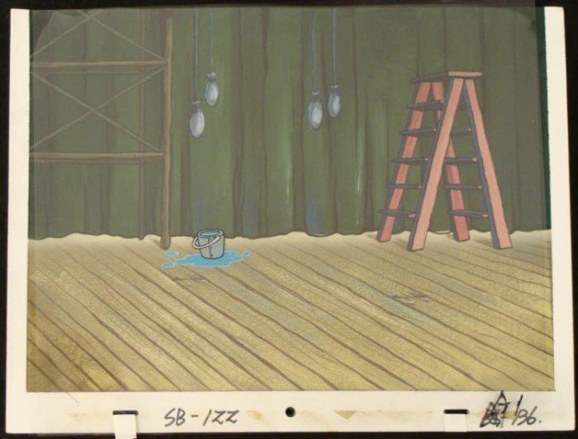 Stage Animation Cel SpongeBob Art Original Background