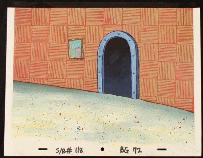 Door Original SpongeBob Animation Art Background Cel