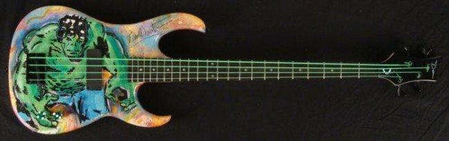 Duerrstein Original Painted Incredible Hulk Bass Guitar