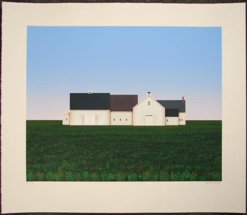 BARNS Ted Jeremenko LE Art Print Primitive Landscape
